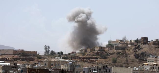 Saudi-led coalition air strikes hit rebel-held Yemen capital