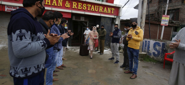 236 more persons discharged after completing two-week quarantine period in Srinagar