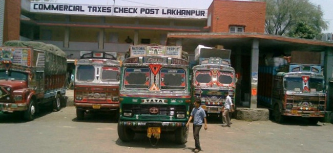 Control Room established at Lakhanpur for ease of movement of trucks